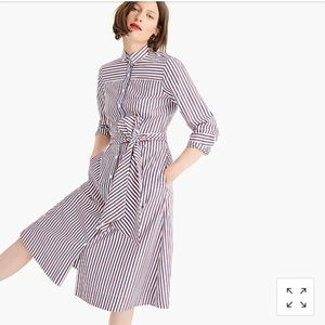 J. crew • Striped Button Up Shirt Dress